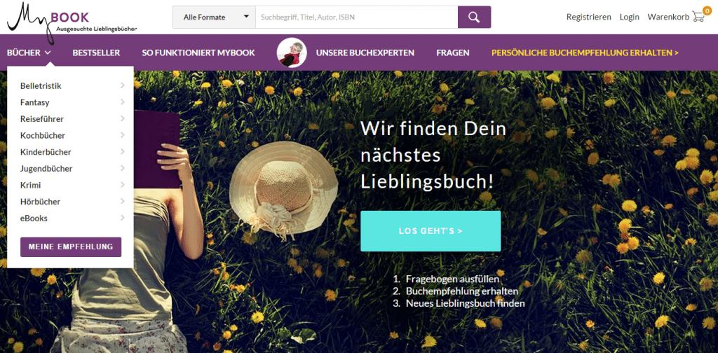 MyBook_Screenshot_Website_Ausgesuchte_Lieblingsbücher