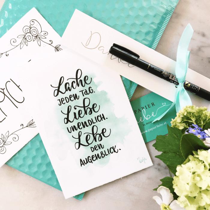 Katja Haas Interview Papier Liebe Lache Liebe Lebe Handlettering