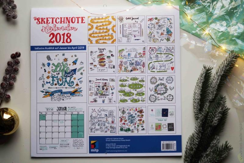 Geschenke Sketchnote Kalender 2018 Übersicht Diana Meier-Soriat mitp Verlag