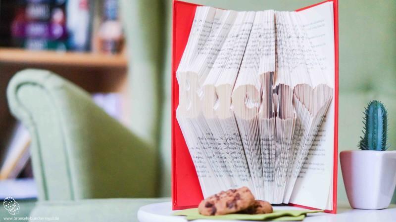 Buecher falten Anleitung Vorlage Buch Liebe Brösels Bücherregal